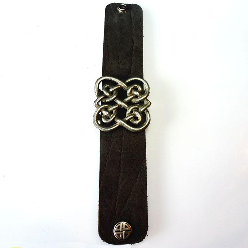 Schmuck Im Keltischen Stil Lederarmband Mit Zwei Ineinander